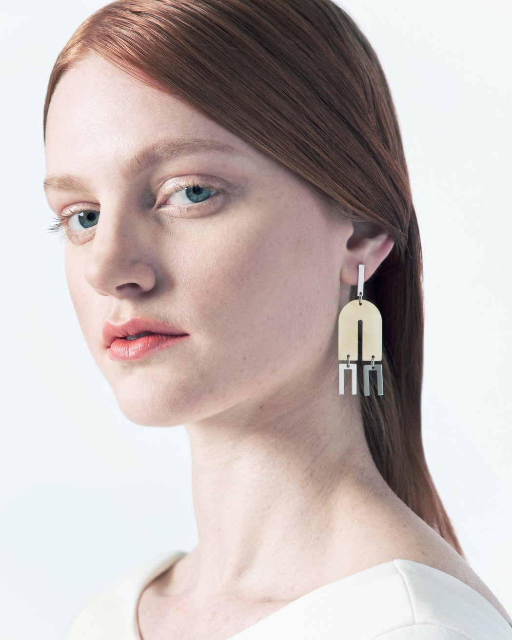 Natalie Joy:Arc + Line Earrings,ANOMIE