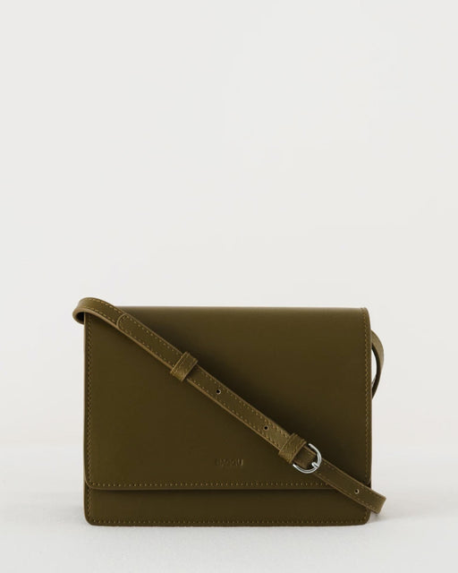 BAGGU:Small Structured Crossbody – Kelp,ANOMIE