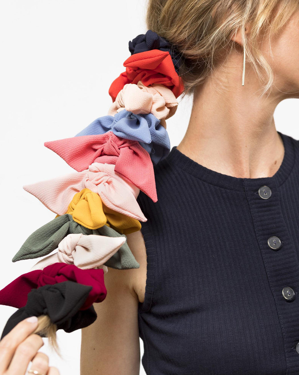 Crepe Chiffon Knot Scrunchie – Assorted Colors