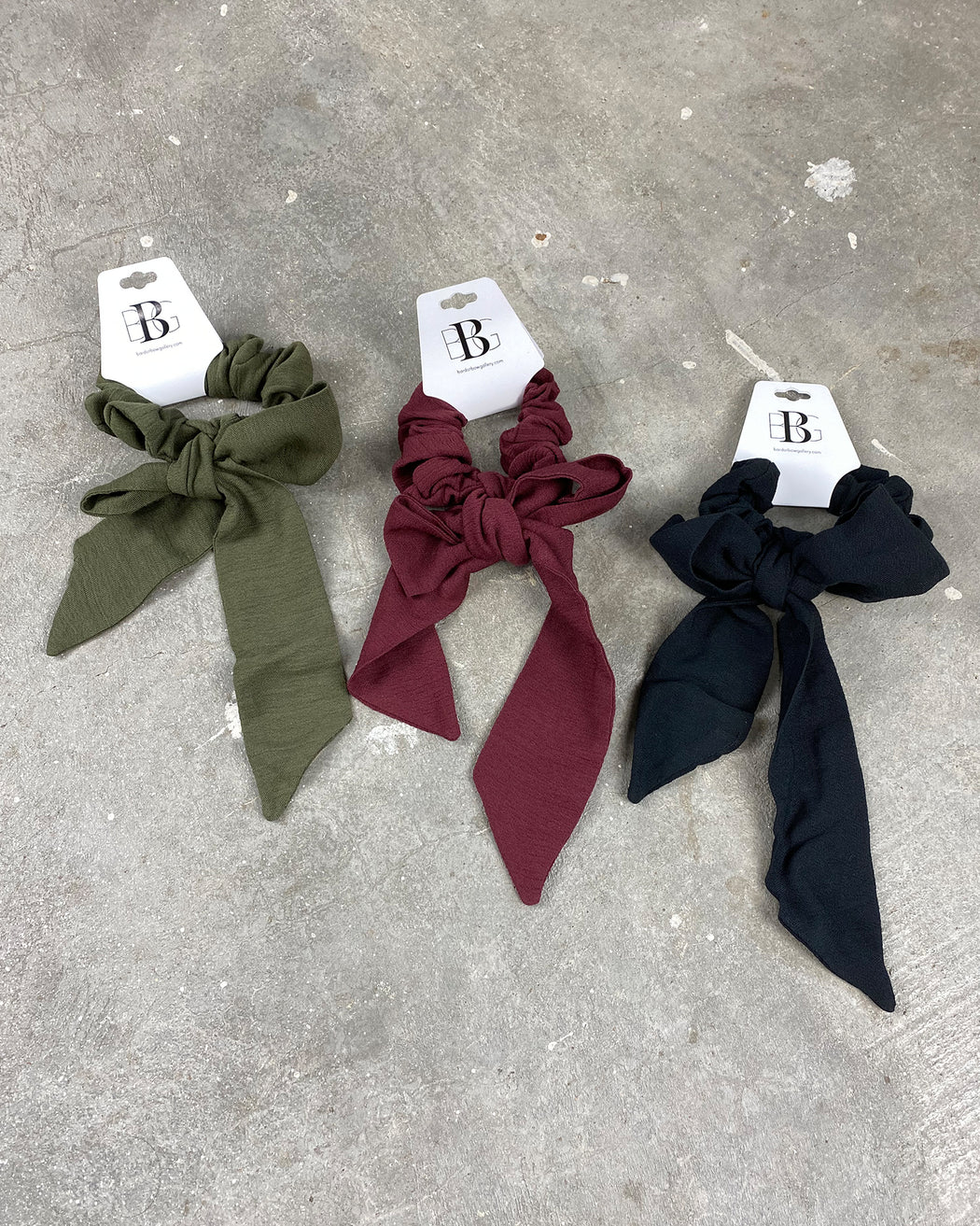 Crinkle Scarf Scrunchie – Assorted Colors