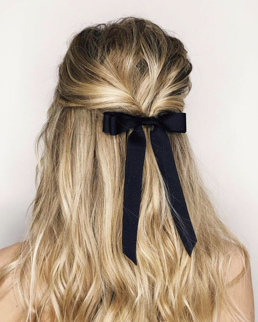 Grosgrain Long Bow Hair Tie