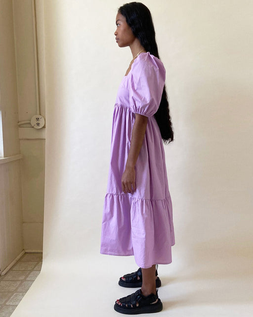 Serenity Puff Sleeve Dress – Lavender
