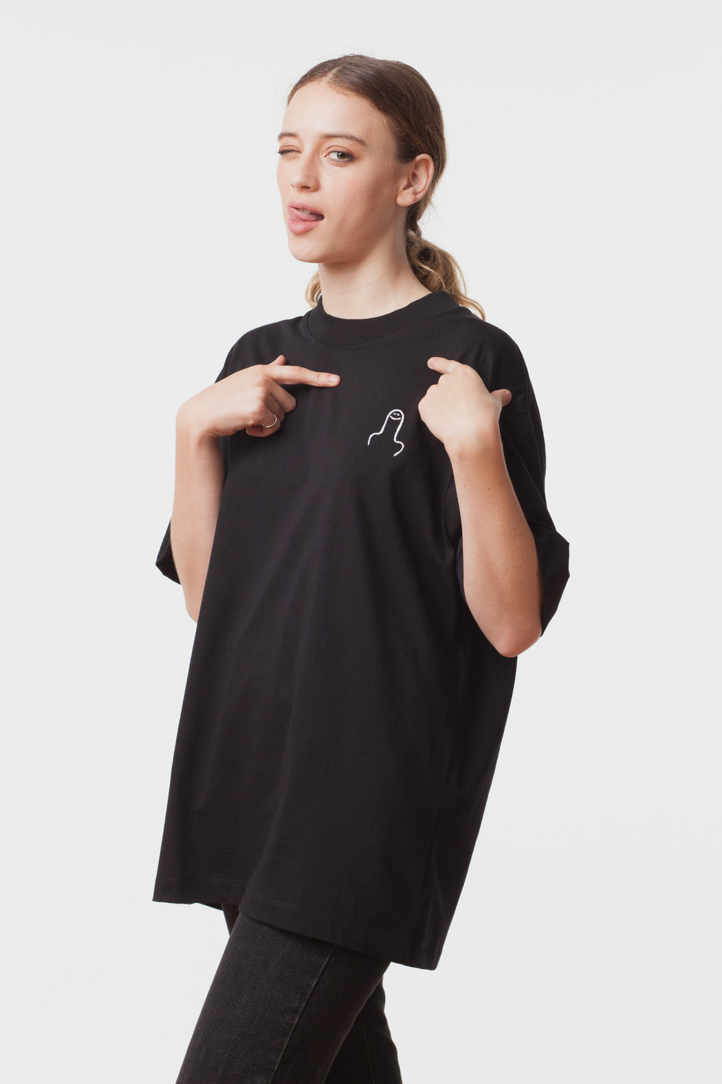 Carne Bollente:The Big D – Embroidered T-Shirt,ANOMIE