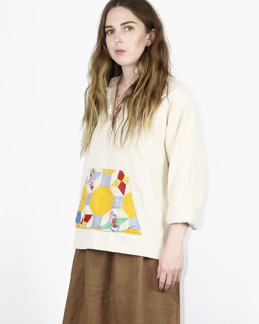Carleen:Quilt Pocket Parka - Natural,ANOMIE