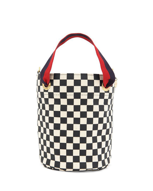 Clare V.:Petite Baleine Bag – Black Checkers,ANOMIE