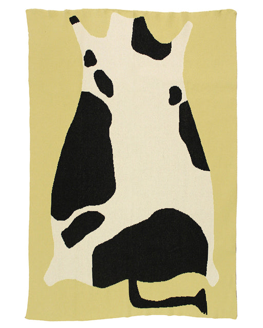 Knit Blanket – Cow