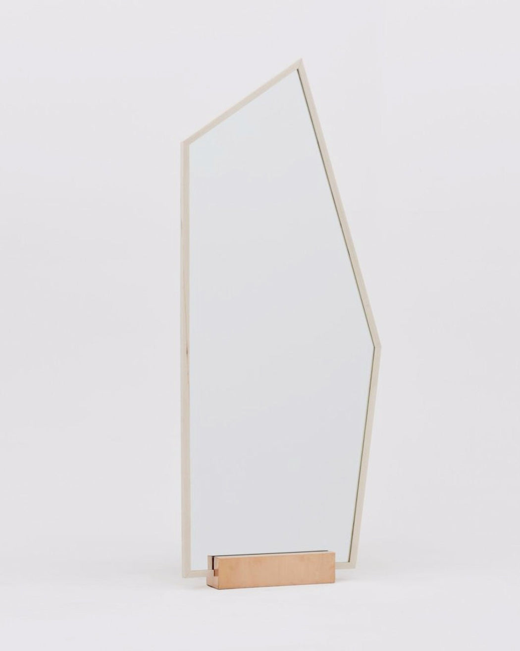 Social+Studies:Mirror – Cbject C,natural wood with copper base