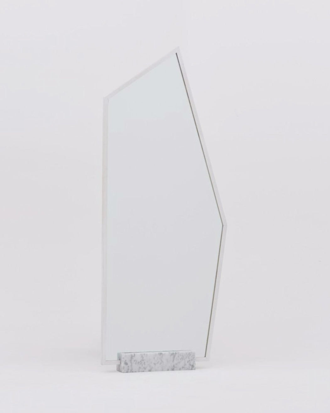 Social+Studies:Mirror – Cbject C,white wood with marble base