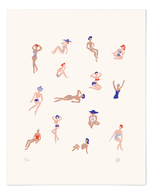 Danielle Kroll:ladies at the beach print,ANOMIE