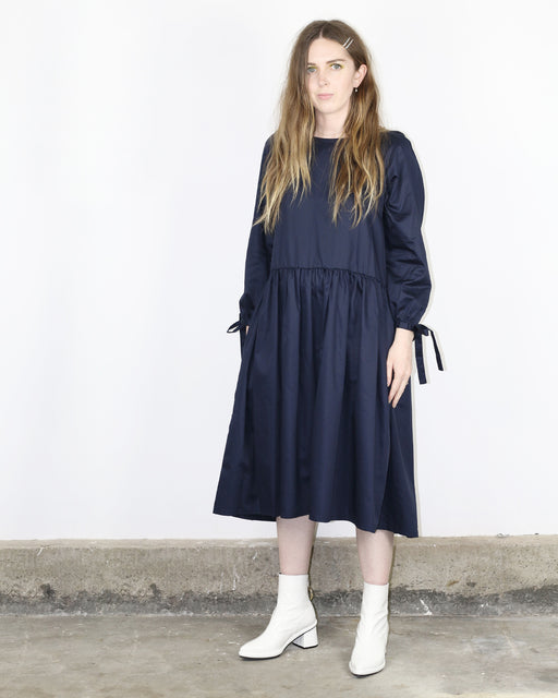 Eliza Faulkner:Tallulah Dress – Deep Blue,ANOMIE