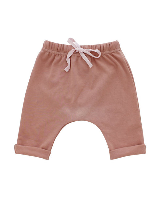 Cotton Baby Joggers – Dusty Rose