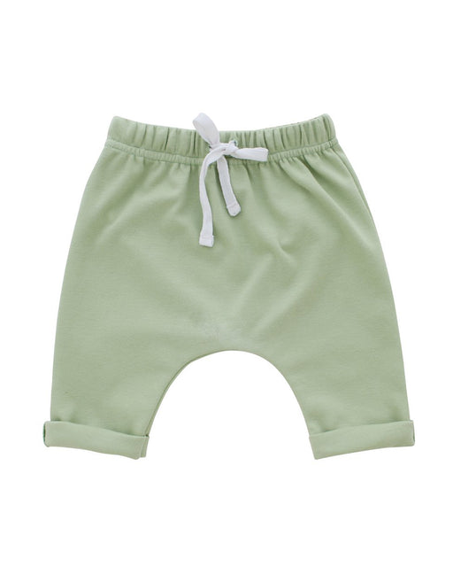 Cotton Baby Joggers – Sage Green