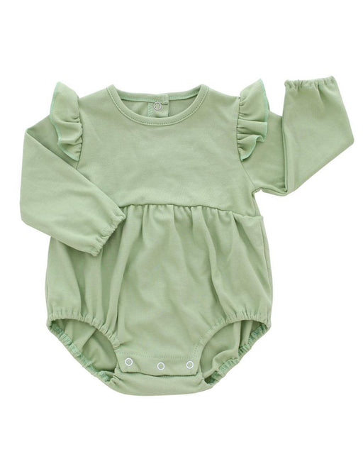 Long Sleeve Flutter Onesie – Sage Green