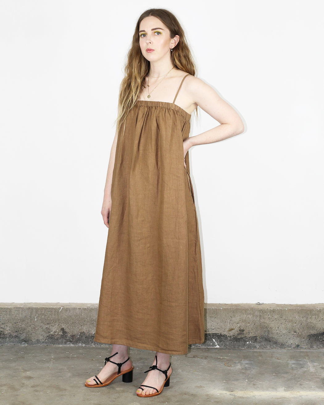 Leah Dress – Wheat