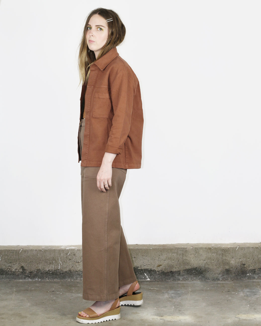 First Rite:Cargo Trouser – Washed Cocoa,ANOMIE