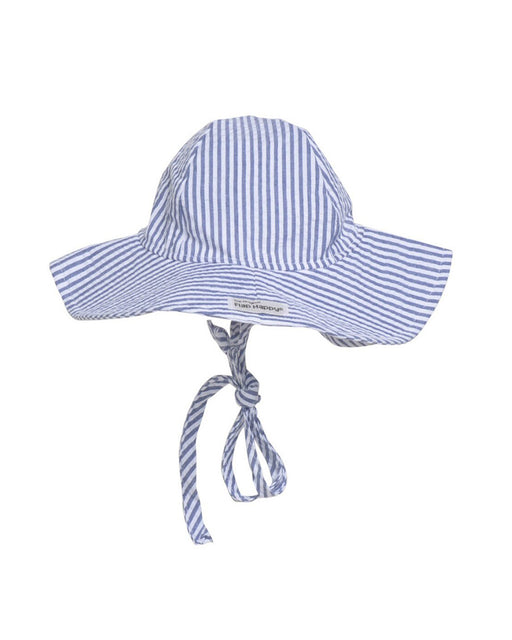 UPF 50+ Floppy Hat – Chambray Stripe Seersucker