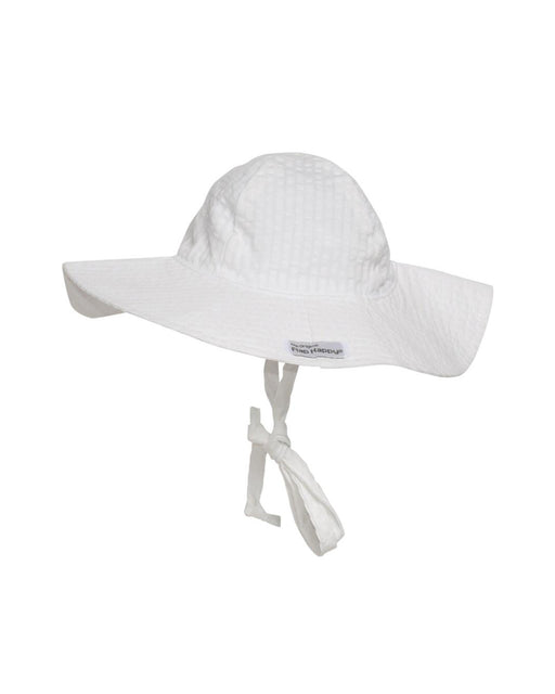 UPF 50+ Floppy Hat – Vanilla Stripe Seersucker