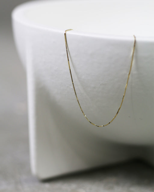 Super Thin Box Chain Anklet