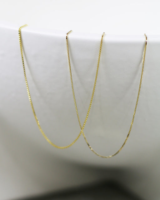 GJENMi:Super Thin Box Chain Necklace,ANOMIE