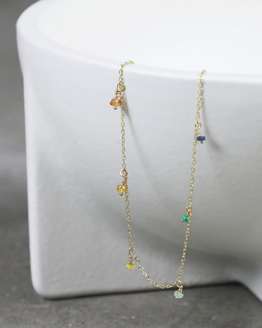 Rainbow Shaker Necklace – Sapphires