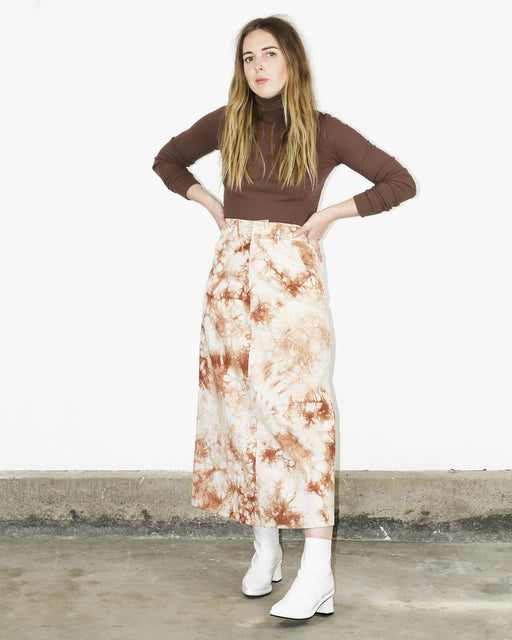 HOSBJERG:October Tie Dye Skirt – Camel + White,ANOMIE