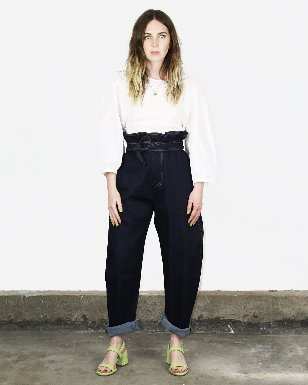 House of Sunny:Paper Bag Trousers – Everyday Blue,ANOMIE