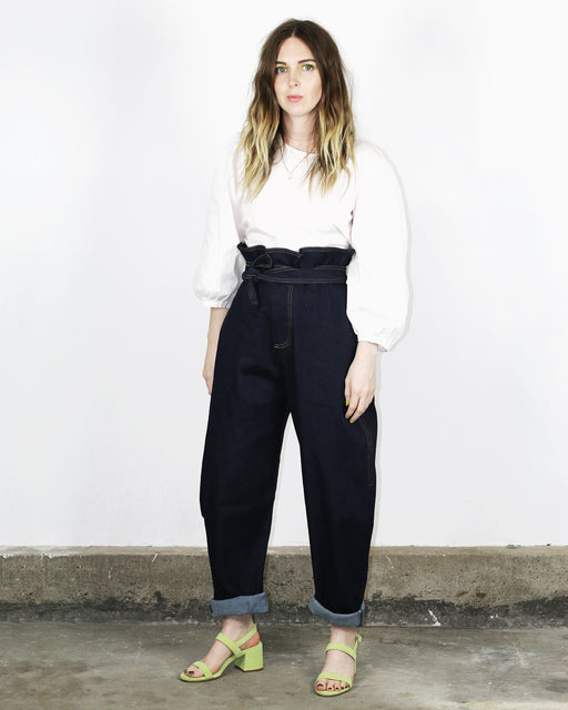 Paper Bag Trousers – Everyday Blue