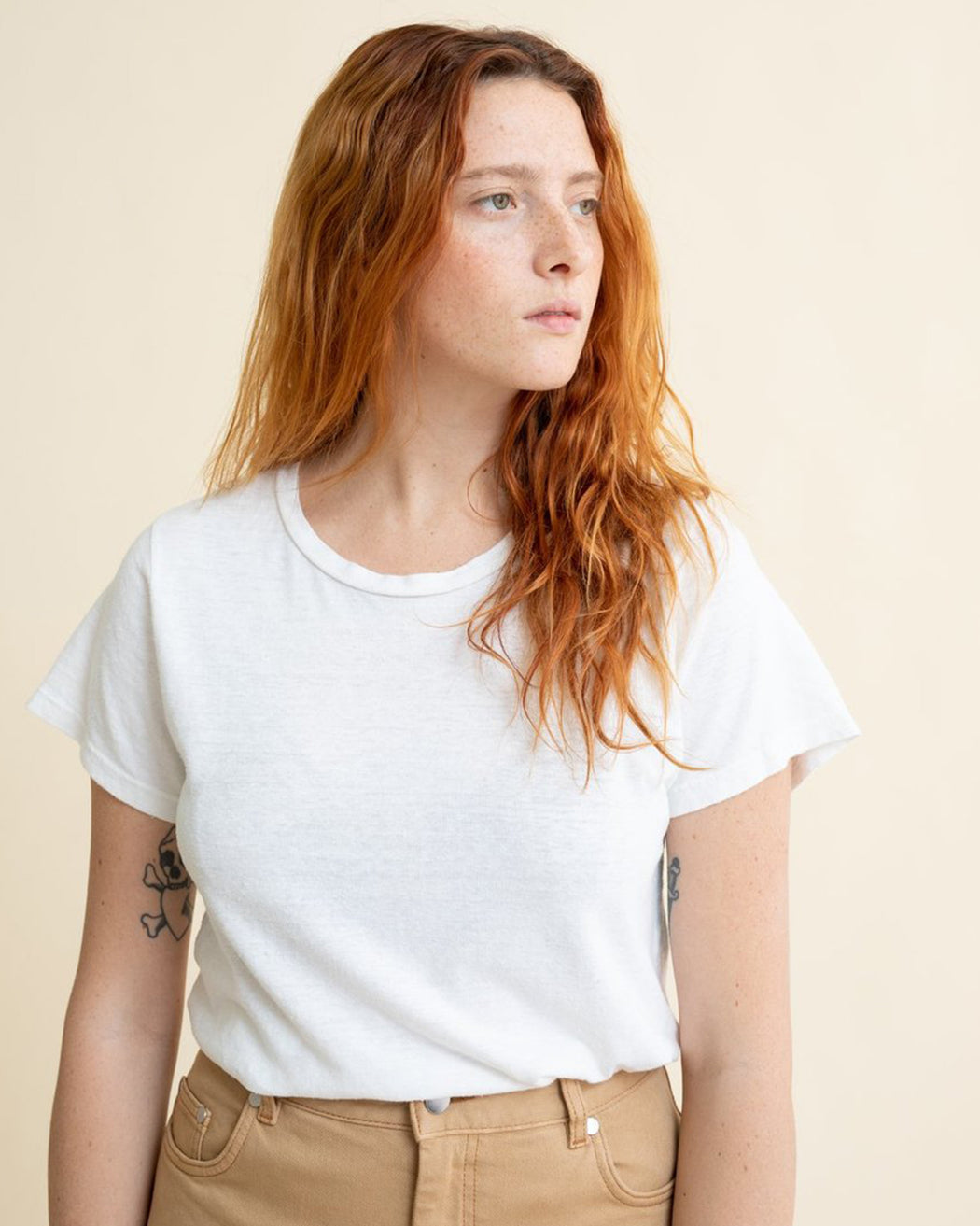 Jungmaven:Lorel Tee – Optic White,ANOMIE
