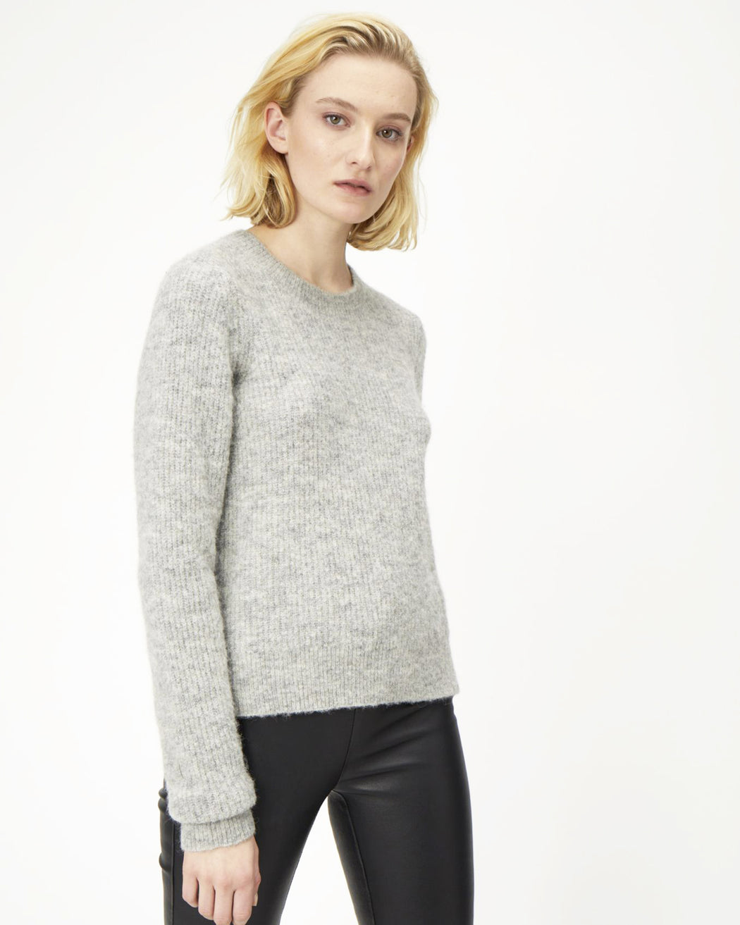 Just Female:Rebelo Knit – Grey Melange,ANOMIE