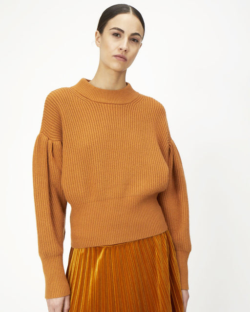 Just Female:Sophie High Neck Knit – Pumpkin Spice,ANOMIE