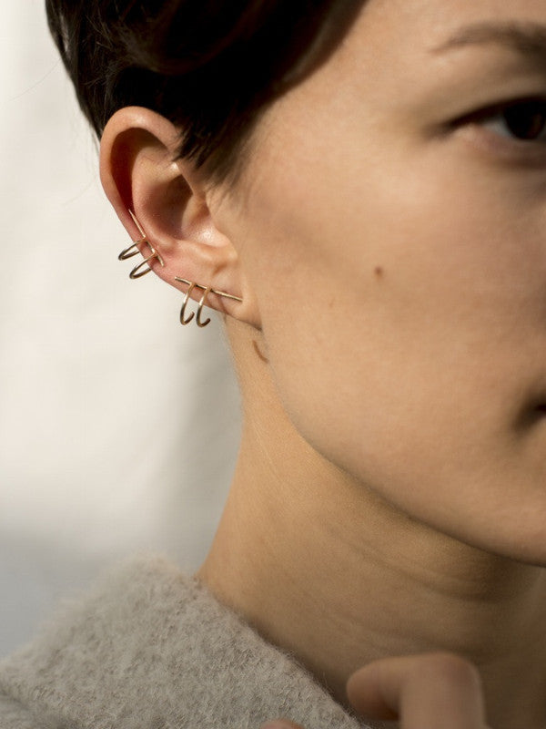 Another Feather:dar ear cuff,ANOMIE