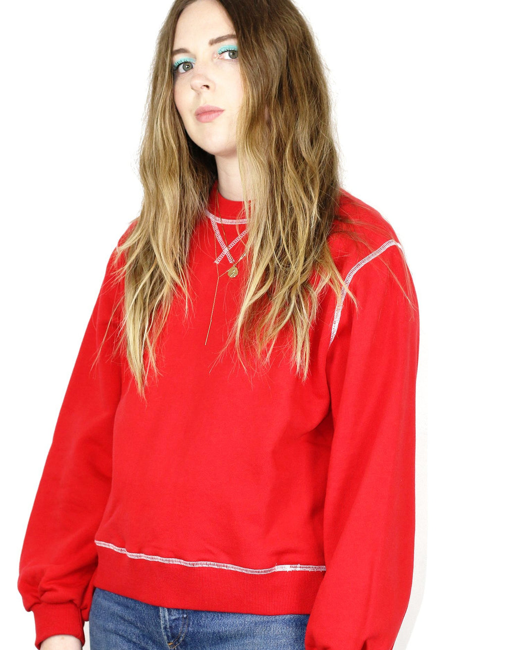 L.F.Markey:Theirry Sweatshirt – Red,ANOMIE