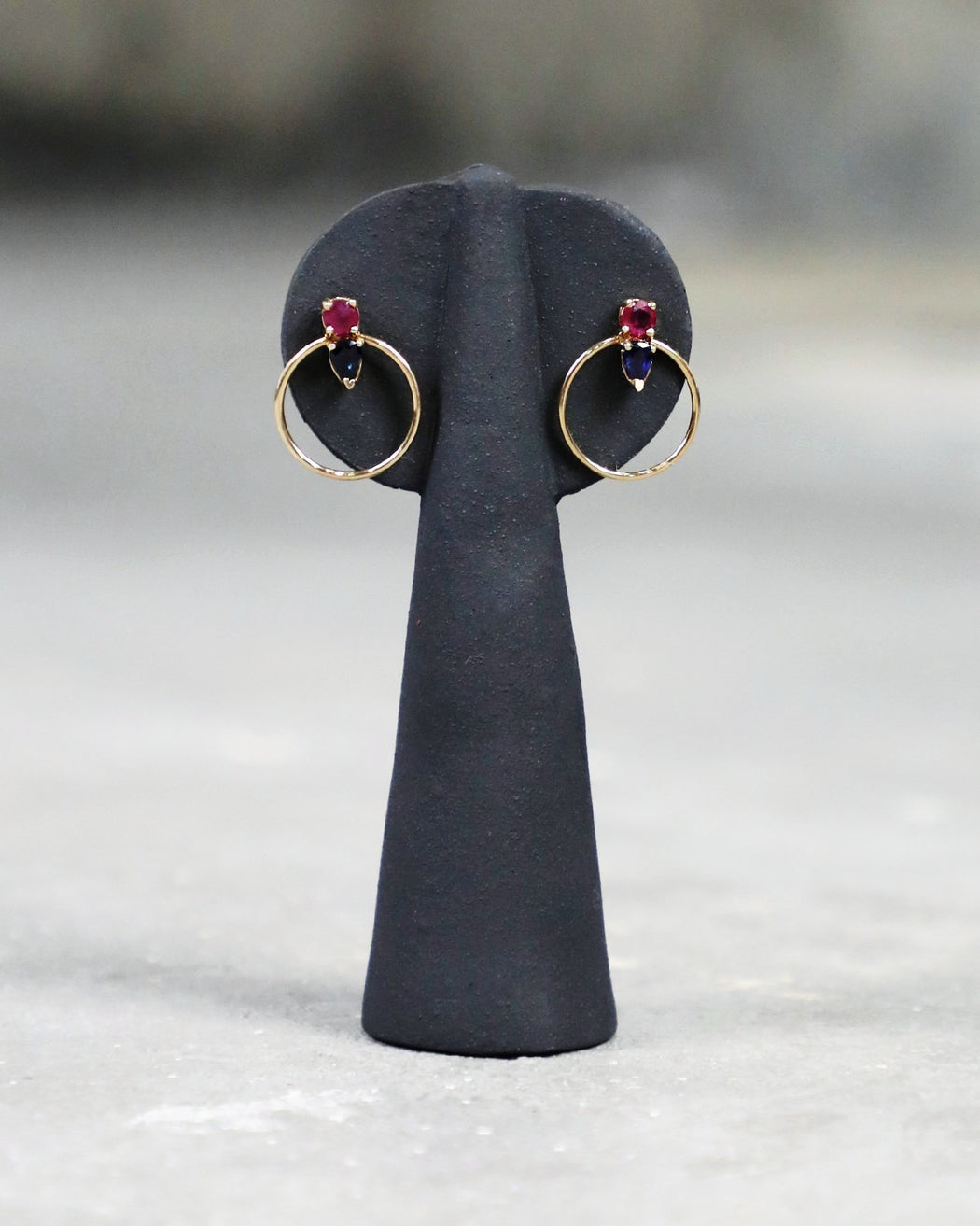 Loren Stewart:Gem Doorknocker Earrings,ANOMIE