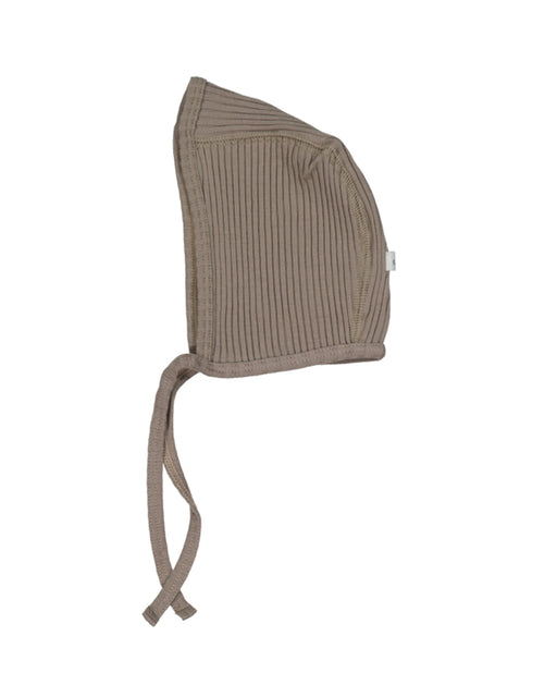 Ribbed Bonnet – Taupe