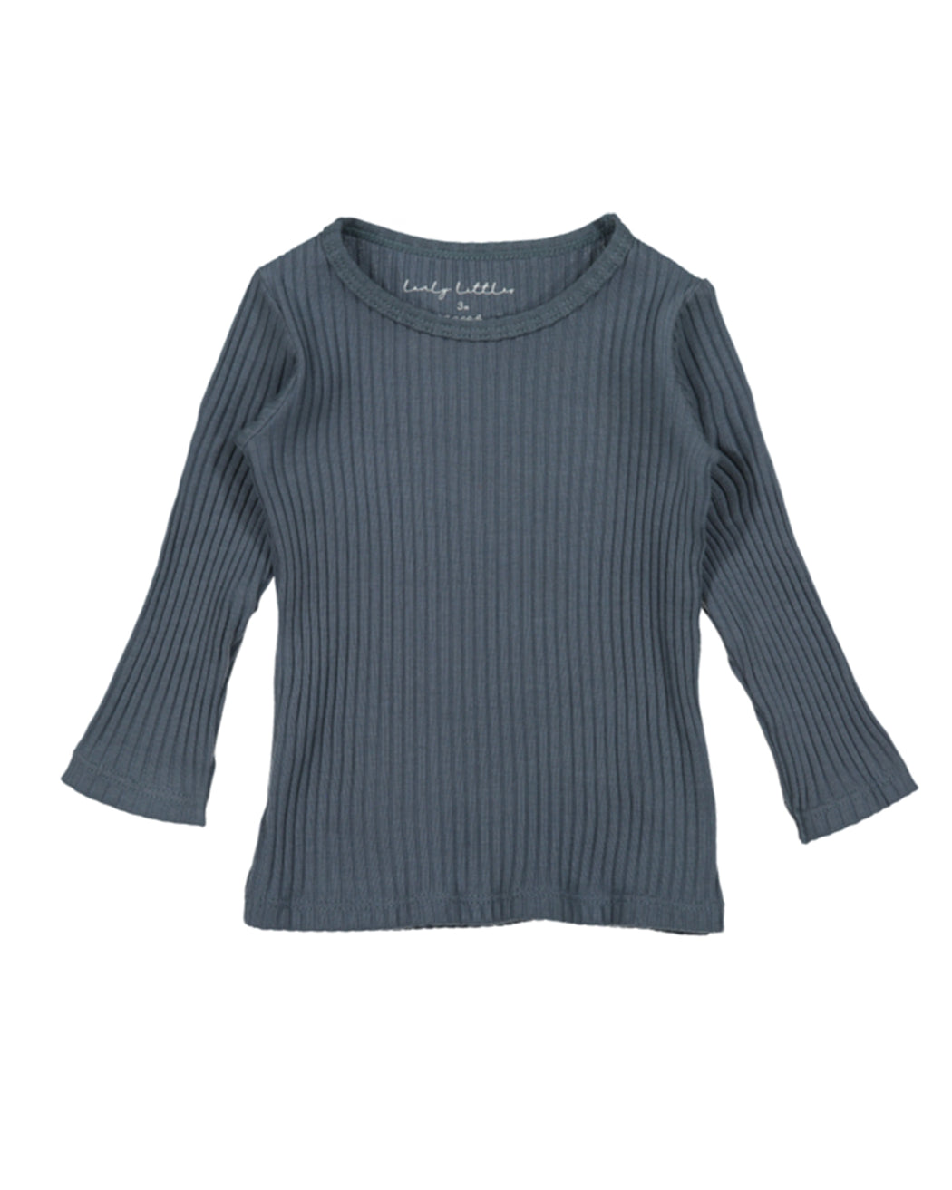 Ribbed Long Sleeve Tee – Midnight Blue