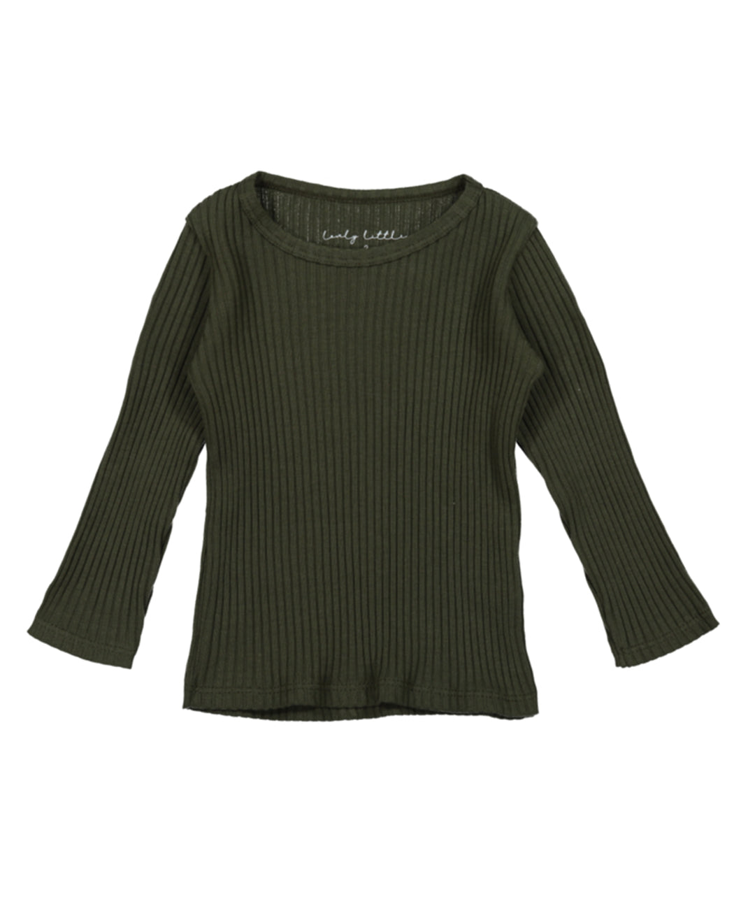 Ribbed Long Sleeve Tee – Moss