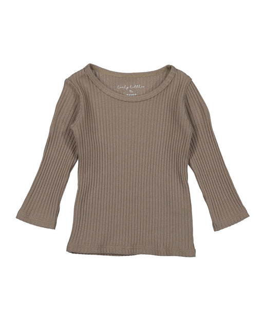 Ribbed Long Sleeve Tee – Taupe