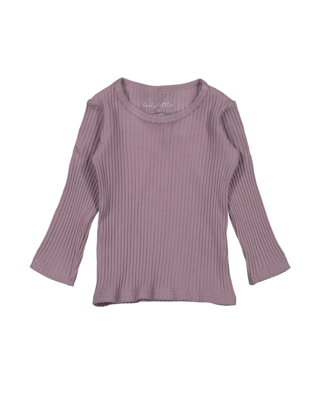 Ribbed Long Sleeve Tee – Violet