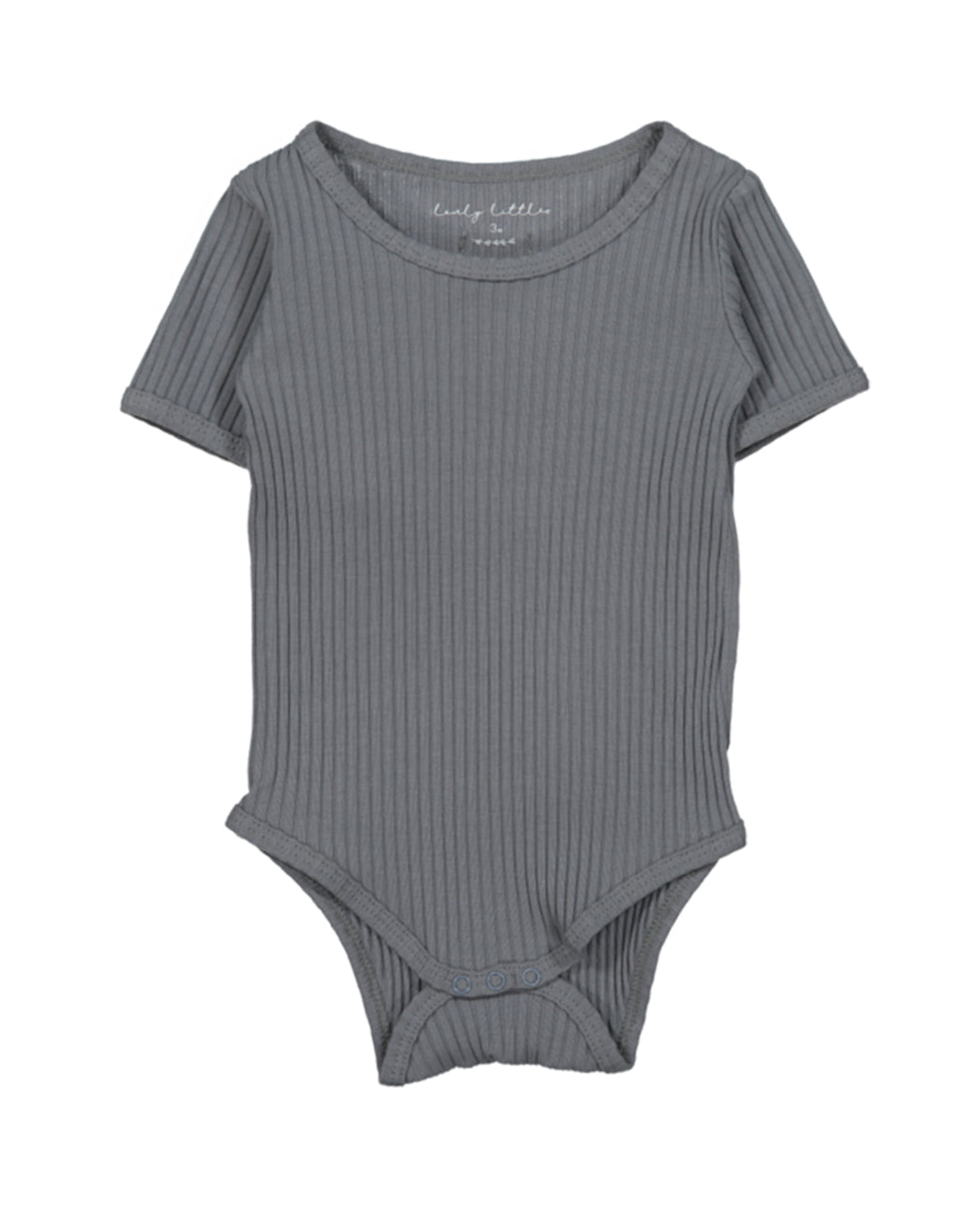Ribbed Short Sleeve Onesie – Slate