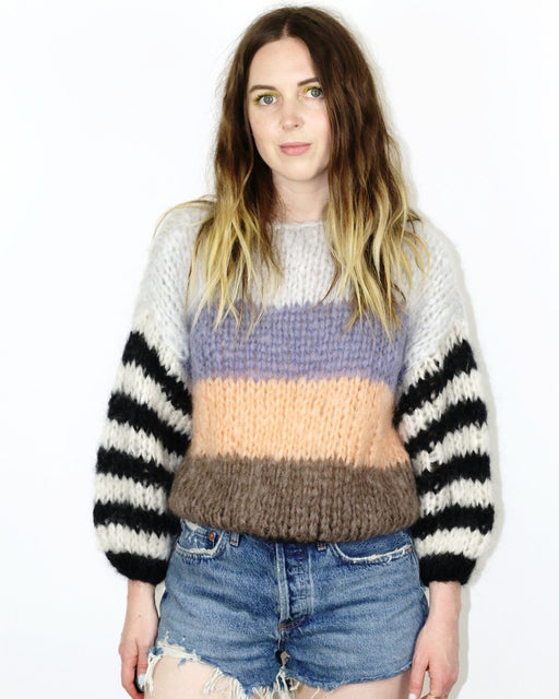 Mohair Big Striped Sweater – Brownish Stripes