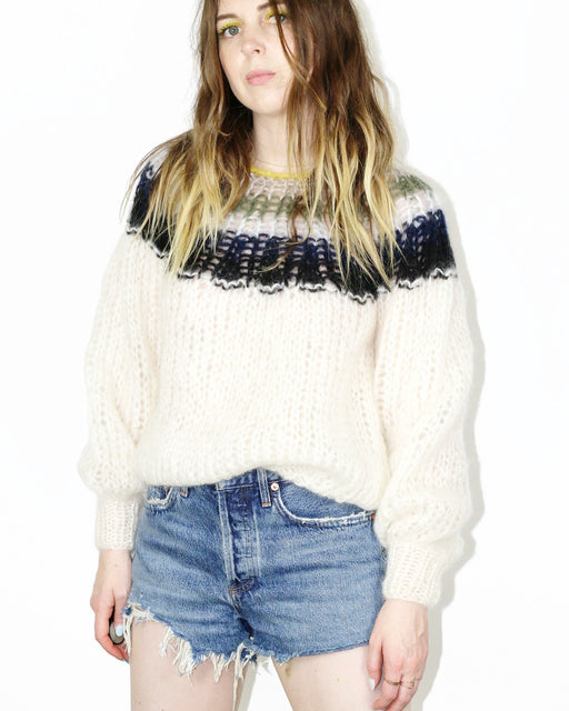 Pleated Sweater – Cream Gradient