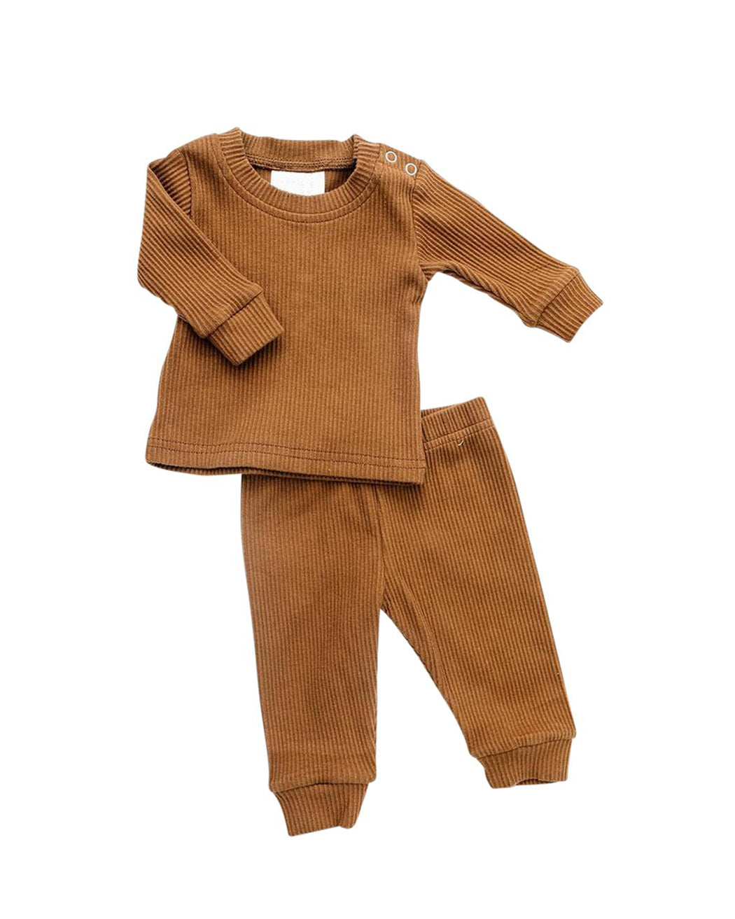 Ribbed Two-Piece Cozy Set – Honey