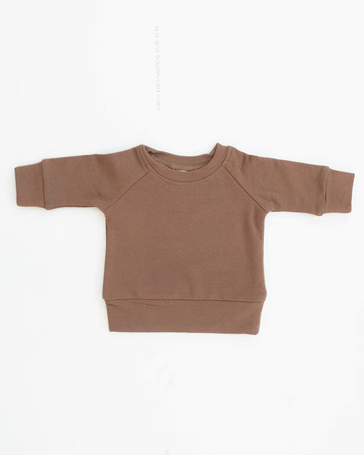 French Terry Crewneck Sweatshirt – Camel
