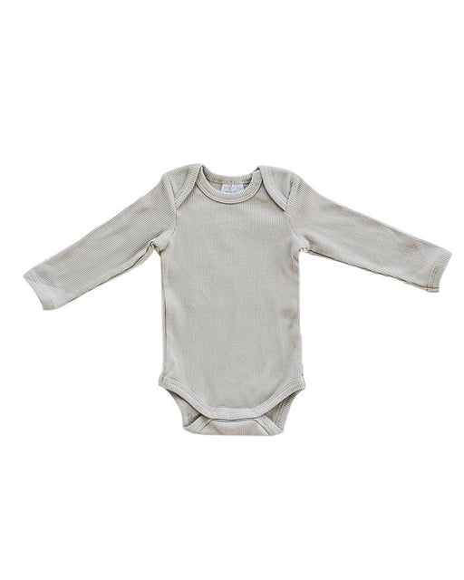 Long Sleeve Ribbed Bodysuit – Oatmeal