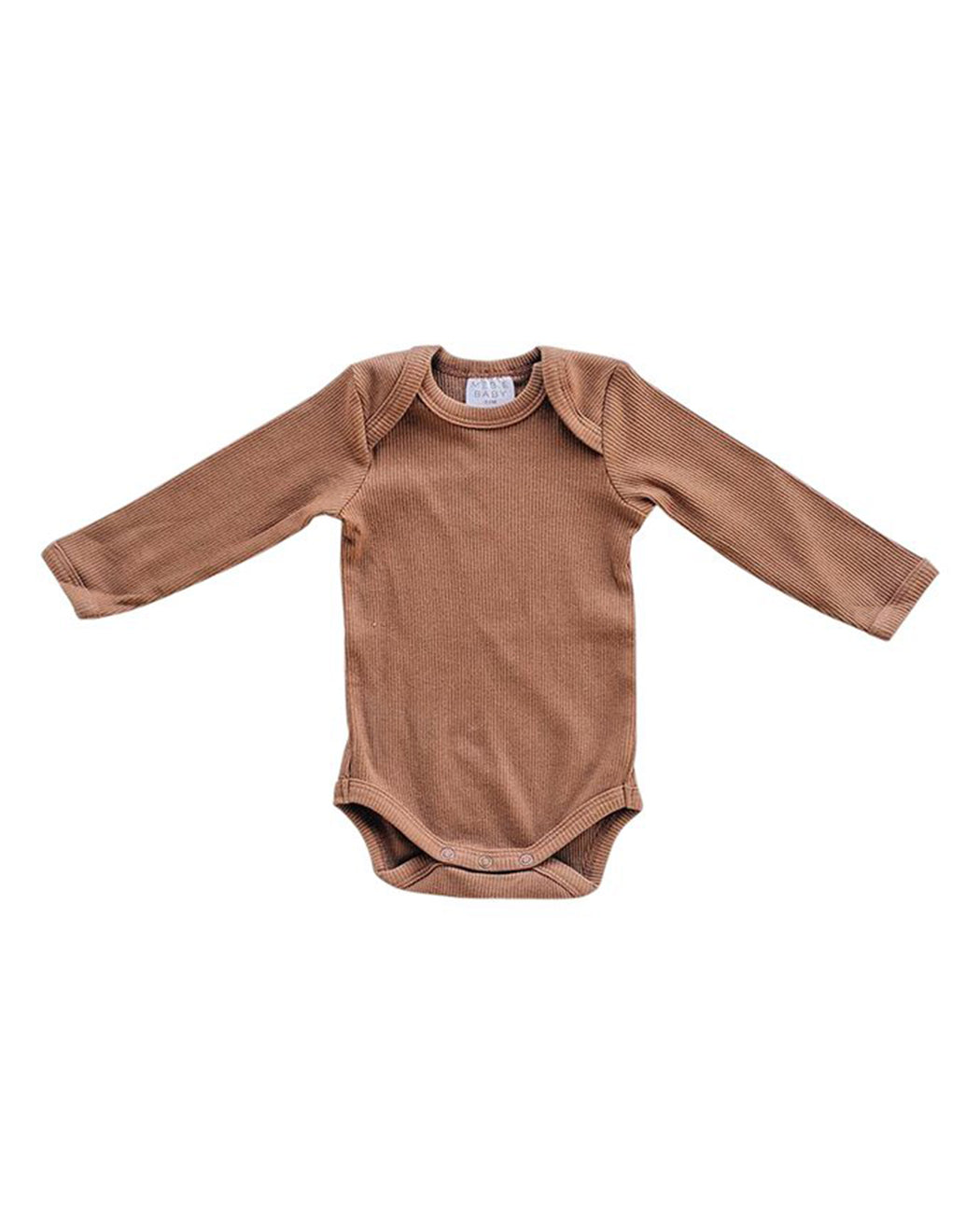 Long Sleeve Ribbed Bodysuit – Rust