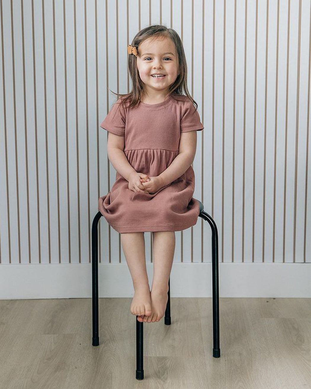 Ribbed Dress – Dusty Rose