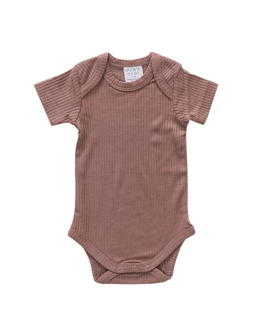 Ribbed Bodysuit – Dusty Rose