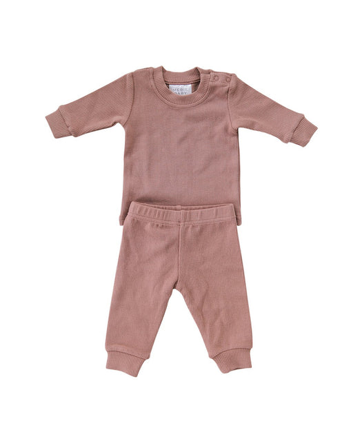 Ribbed Two-Piece Cozy Set – Blush