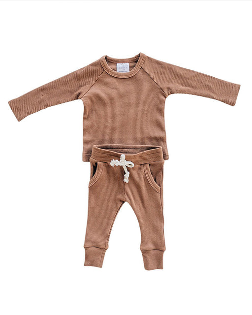 Ribbed Two-Piece Pocket Set – Rust