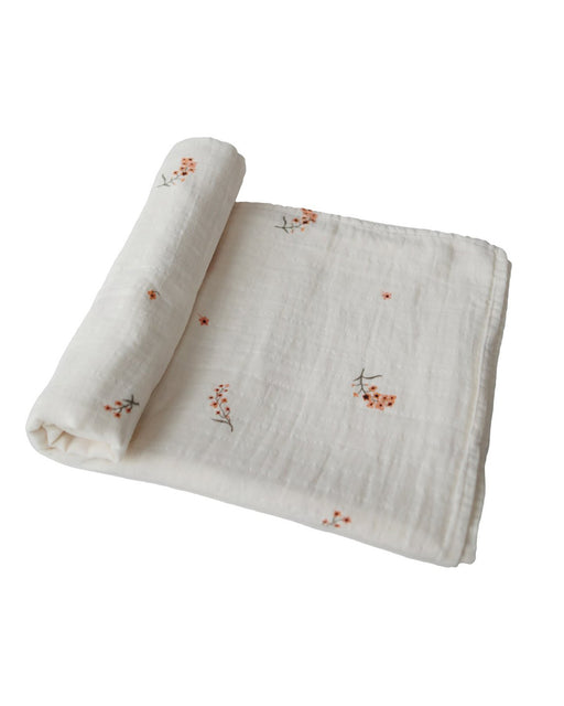 Organic Cotton Swaddle Blanket – Flowers